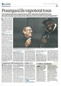 """Frans krantenartikel, """"Waarom ze allemaal dampen"""""""