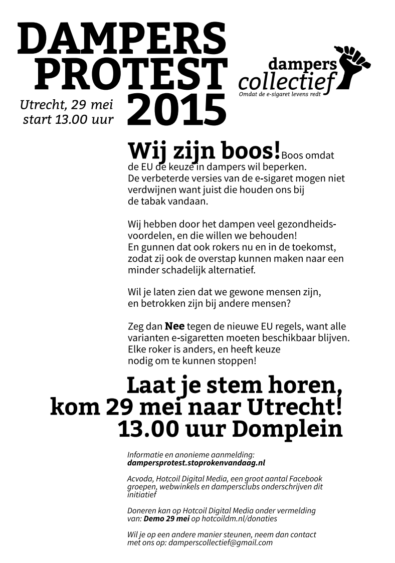 Poster Dampersprotest groot formaat