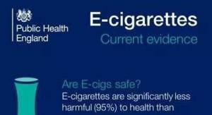 Public Health England statement over de e-sigaret ; tenminste 95% minder schadelijk